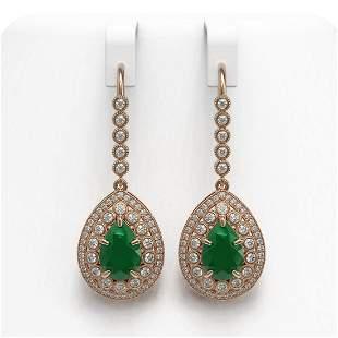 10.15 ctw Certified Emerald & Diamond Victorian
