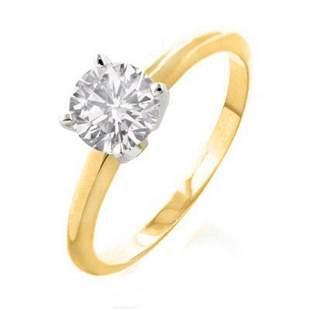 1.50 ctw Certified VS/SI Diamond Ring 14k Yellow Gold -
