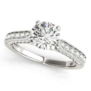 1.35 ctw Certified VS/SI Diamond Ring 18k White Gold -