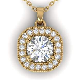 1.02 ctw Certified VS/SI Diamond Stud Micro Necklace