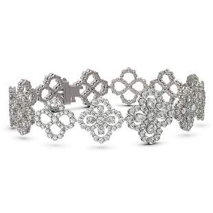 10 ctw Pear Cut Diamond Designer Bracelet 18K White