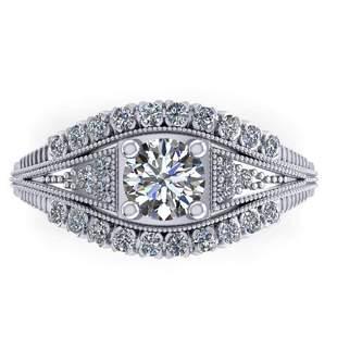 1.50 ctw Solitaire VS/SI Diamond Ring Art Deco 14k