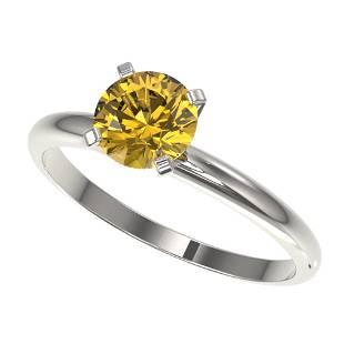 ctw Certified Intense Yellow Diamond Engagment Ring