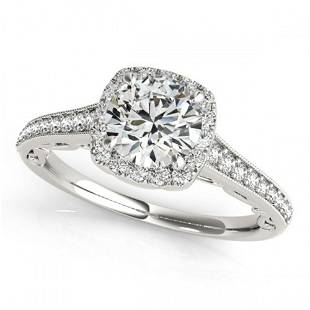 0.75 ctw Certified VS/SI Diamond Halo Ring 18k White