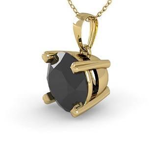 1 ctw Black Diamond Designer Necklace 18k Yellow Gold -