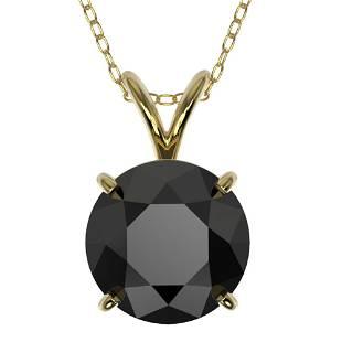 2.09 ctw Fancy Black Diamond Solitaire Necklace 10k