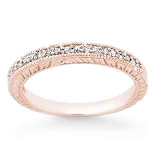 0.20 ctw Certified VS/SI Diamond Ring 14k Rose Gold -