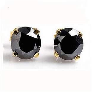 0.50 ctw VS Certified Black Diamond Stud Earrings 14k