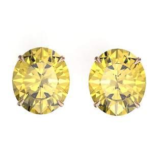 18 ctw Citrine Designer Stud Earrings 14k Rose Gold -