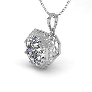 0.50 ctw VS/SI Diamond Necklace Art Deco 18k White Gold