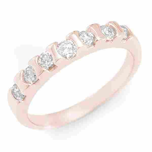 0.65 ctw Certified VS/SI Diamond Ring 14k Rose Gold -