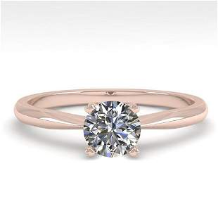 0.54 ctw VS/SI Diamond Engagment Designer Ring 14k Rose
