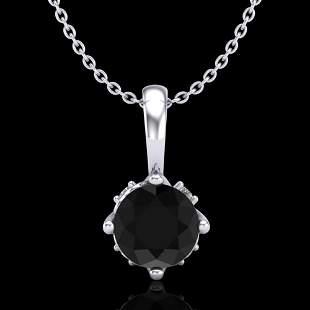 0.62 ctw Fancy Black Diamond Art Deco Stud Necklace 18k