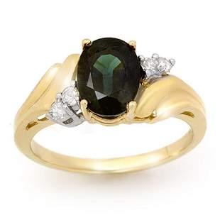 1.67 ctw Blue Sapphire & Diamond Ring 10k Yellow Gold -