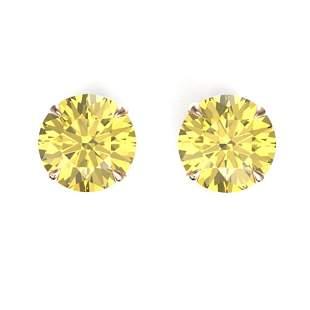 4 ctw Citrine Designer Stud Earrings 14k Rose Gold -