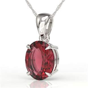 3 ctw Pink Tourmaline Designer Necklace 18k White Gold