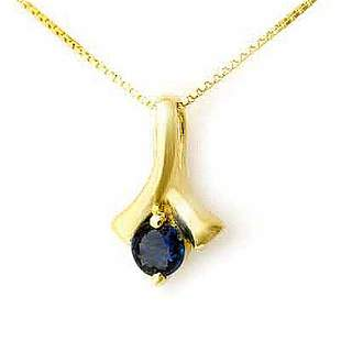 0.33 ctw Blue Sapphire Pendant 10k Yellow Gold -