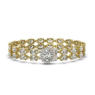 3.54 ctw Oval Diamond Bracelet 18K Yellow Gold -