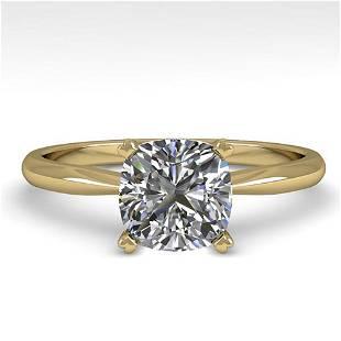 1.03 ctw Cushion VS/SI Diamond Engagment Designer Ring