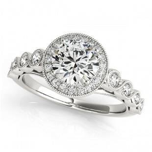 1.05 ctw Certified VS/SI Diamond Halo Ring 18k White