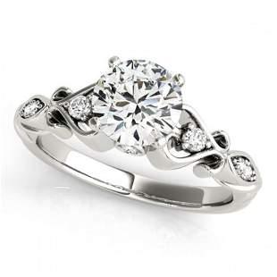 0.65 ctw Certified VS/SI Diamond Antique Ring 18k White