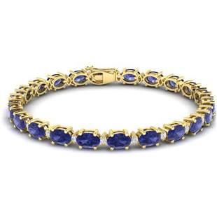 26.3 ctw Tanzanite & VS/SI Diamond Eternity Bracelet