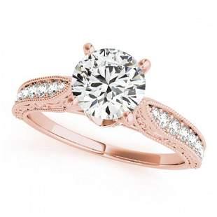 0.98 ctw Certified VS/SI Diamond Antique Ring 18k Rose