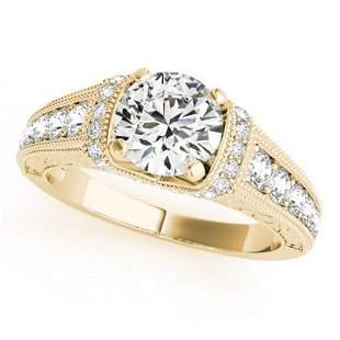 1.5 ctw Certified VS/SI Diamond Antique Ring 18k Yellow