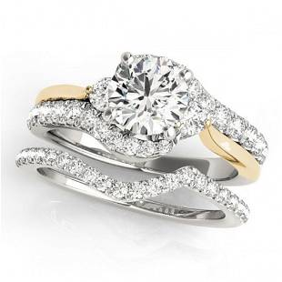 1.31 ctw Certified VS/SI Diamond Bypass Solitaire 2pc