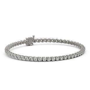 7 ctw Diamond Designer Bracelet 18K White Gold -