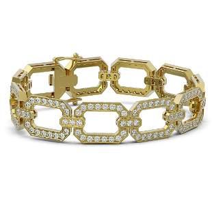 10 ctw Diamond Designer Bracelet 18K Yellow Gold -