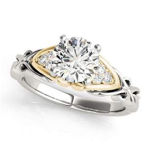 1.1 ctw Certified VS/SI Diamond Solitaire Ring 18k