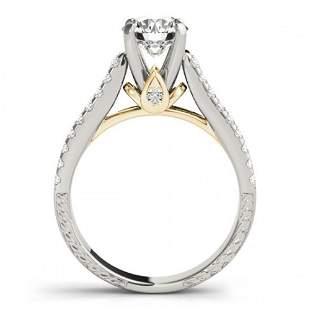 2.45 ctw Certified VS/SI Diamond Pave 2pc Wedding Set