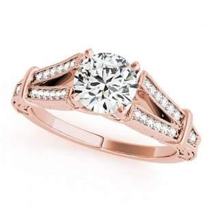 1 ctw Certified VS/SI Diamond Antique Ring 18k Rose