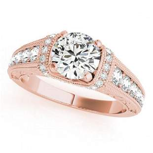 1.25 ctw Certified VS/SI Diamond Antique Ring 18k Rose