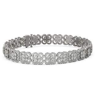12 ctw Diamond Designer Bracelet 18K White Gold -