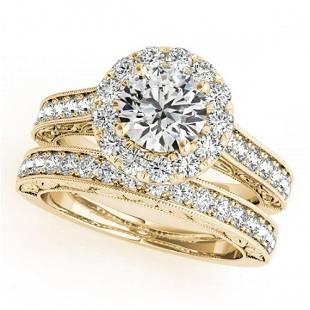 1.81 ctw Certified VS/SI Diamond 2pc Wedding Set Halo