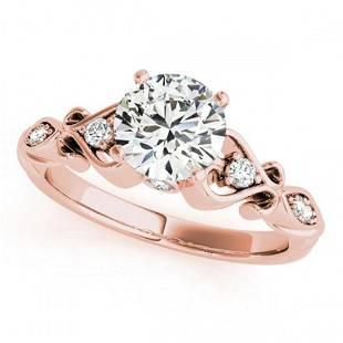 1.15 ctw Certified VS/SI Diamond Antique Ring 18k Rose