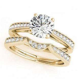 0.94 ctw Certified VS/SI Diamond 2pc Wedding Set 14k