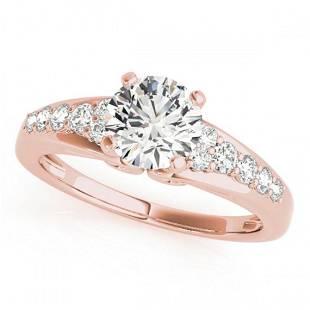 1.4 ctw Certified VS/SI Diamond Ring 18k Rose Gold -