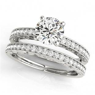 1.16 ctw Certified VS/SI Diamond 2pc Wedding Set