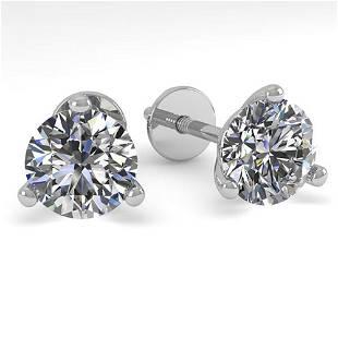 1.01 ctw Certified VS/SI Diamond Stud Earrings Martini