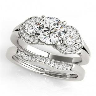 1.3 ctw Certified VS/SI Diamond 3 Stone 2pc Wedding Set