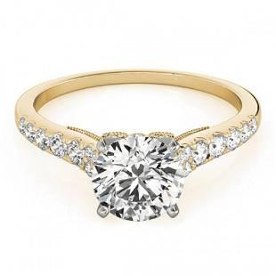 0.75 ctw Certified VS/SI Diamond Ring 18k Yellow Gold -