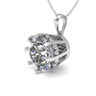 1.50 ctw Certified VS/SI Diamond Necklace Vintage 18k