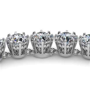 40 ctw SI Certified Diamond Necklace Vintage 14k White