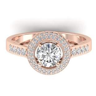 1.45 ctw Certified VS/SI Diamond Art Deco Micro Ring