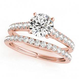 1.38 ctw Certified VS/SI Diamond 2pc Wedding Set 14k