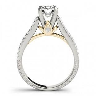 1.70 ctw Certified VS/SI Diamond Pave 2pc Wedding Set