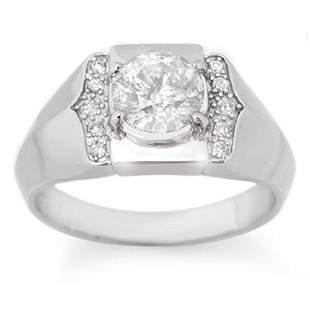 1.65 ctw Certified VS/SI Diamond Men's Ring 14k White